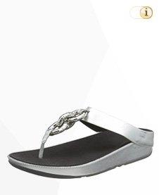 FitFlop Damen Superchain Imi-Lea Toe-Post Sandalen, Silber.
