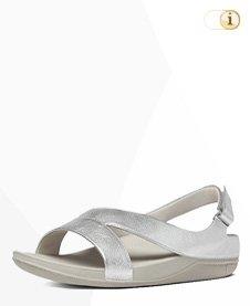 "Fitflop ""Ringer"" Z-Slide Sandale in Silber"