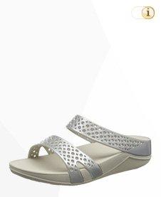FitFlop Damen Welljelly Z-Slide Sandale,silber.