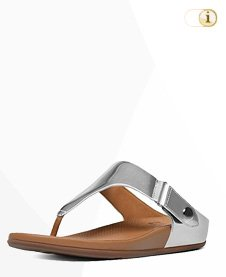 Fitflop Gladdie Toe Post Metallic Sandale, silber.