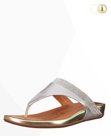 "FitFlop SANDALE ""BANDA TOE-POST"", silber."