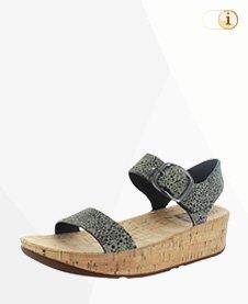Fitflop Damen Bon Back-Strap Sandale, Eidechse Print.