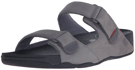 Graue FitFlop Herren Gogh Adjustable Sandale.