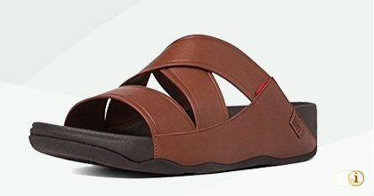 Braune FitFlop Herren Leder-Sandale.