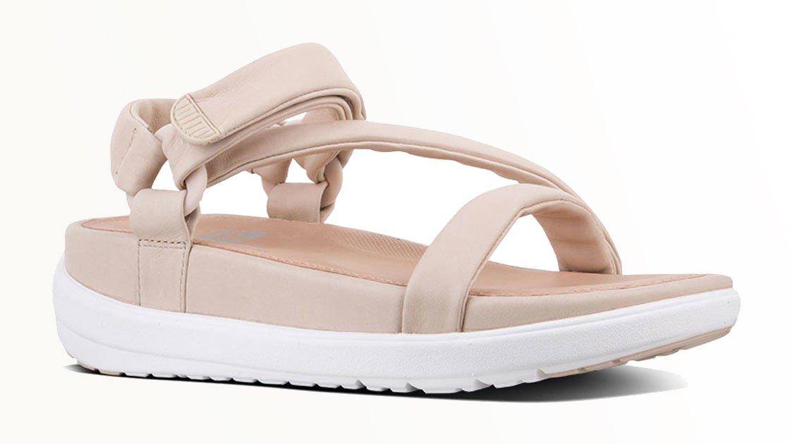 Rosa Fitflop Damen Sandalen. Sandale Limeted Edition Michelle Stein, rosa.