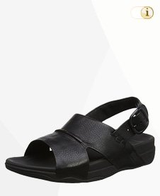 FitFlop Bando Leder Sandalen, mit Schnalle, schwarz.