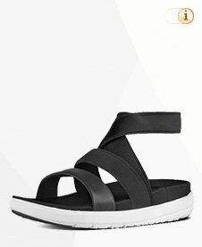 Fitflop Loosh Gladiator Sandale, Schwarz.