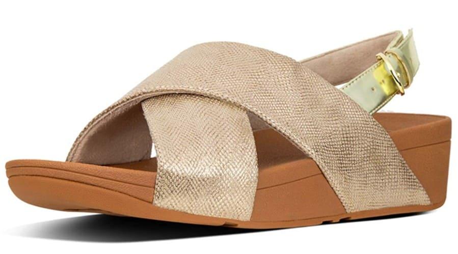 Fitflop Damen Lulu Cross Back-Strap Sandale, roségold.