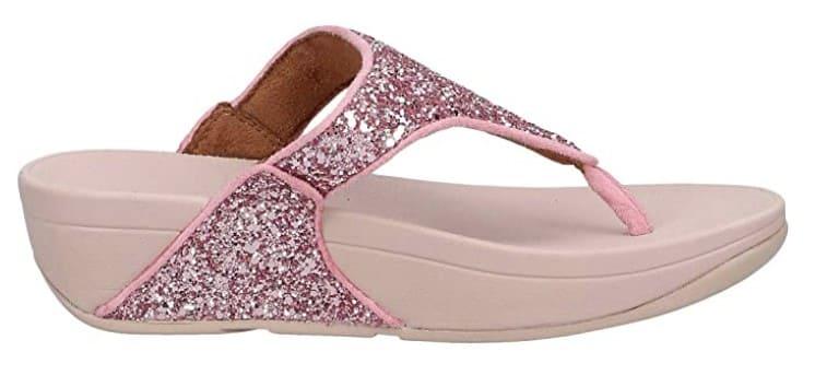 Fitflop Damen Lulu Glitter Toe-Thongs Sandalen, rosé.