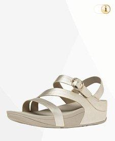 Fitflop Skinny Z Cross Sandale, silber.