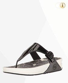 Superjelly Damen Sandale, Schwarz-weiß.