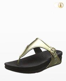 Superjelly Damen Sandale, grün-gold.
