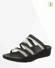 FitFlop Damen Superjelly Twist Sandale, Schwarz.