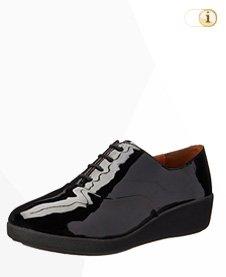FitFlop F-Pop Opul Oxford Patent Sneaker, schwarz.