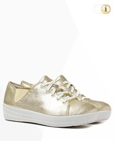 FitFlop Sporty Lace Up Sneaker, Gold.
