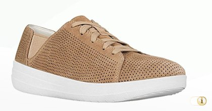 FITFLOP Sporty Lace Up Sneaker in braun.