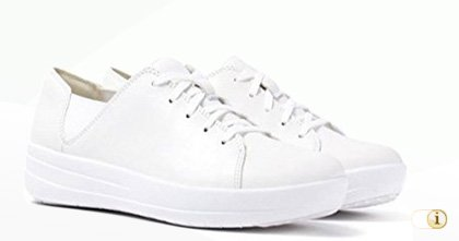 FITFLOP Sporty Lace Up Sneaker in weiß.
