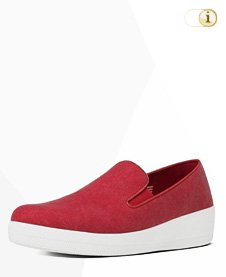 FitFlop Superskate Slipper, rot.