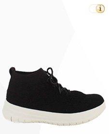 Fitflop Uberknit SLIP-ON HI TOP Schuh, schwarz.