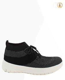 Fitflop Uberknit SLIP-ON HI TOP Schuh, schwarz/grau.