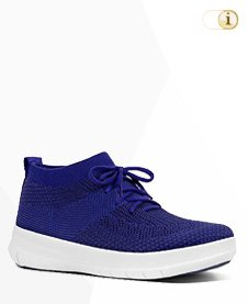 Fitflop Uberknit SLIP-ON HI TOP Schuh, blau.