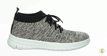 UBERKNIT Slip-On Hi-Top Sneaker, grau.