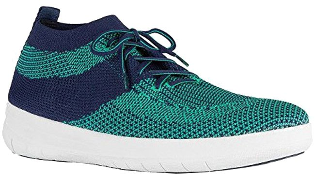 UBERKNIT Slip-On Hi-Top Sneaker, grün.