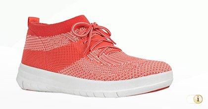 UBERKNIT Slip-On Hi-Top Sneaker, orange.