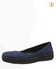 "FitFlop ""F-Sporty"" Wildleder Ballerina Schuhe,blau."