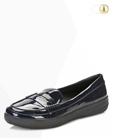 FitFlop F-Sporty Tm Penny Loafer, schwarz.