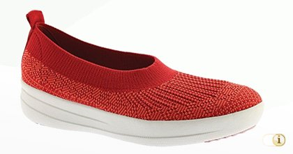 Sporty Uberknit™ Slip-On Ballerinaschuhe in Rot.