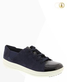 FitFlop F-Sporty Lace Up Sneaker - Black Mix Suede,navyblau.