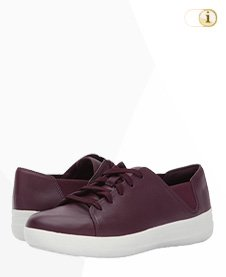 FitFlop Sporty Lace Up Sneaker, Deep Plum.