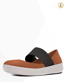 FitFlop F-SPORTY Tm MARY JANE DARK TAN, Schuhe, braun.