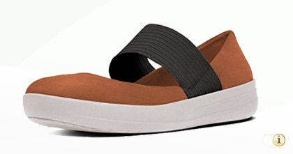 Fitflop F-SPORTY TM MARY JANE Schuhe in braun.