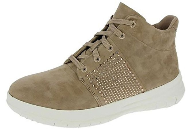 Fitflop Sporty Pop X Kristall - Hi-Top Schuhe in Mokka.