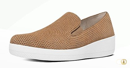 FITFLOP Superskate Slipper, braun.