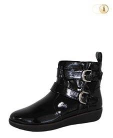 Schwarze FitFlop Damen Stiefel, LAILA Stiefeletten, schwarz.