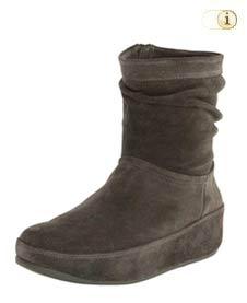 FitFlop Damen Winterstiefel, Crush Wildleder Boots, taupe.