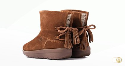FitFlop Boots, Mukluk Shorty Stiefel, braun.