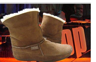 Braune FitFlop Boots, Stiefel, MUKLUK, braun.