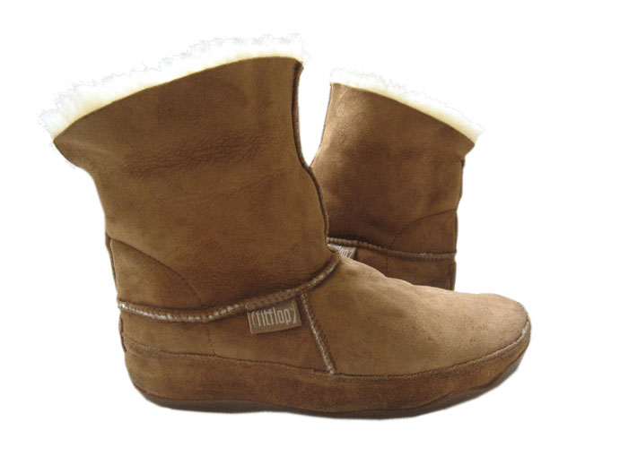 FitFlop Boots, Stiefel, MUKLUK, braun.