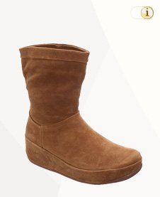 FitFlop Boots, Stiefel, Crush slouchy, suede, hellbraun.