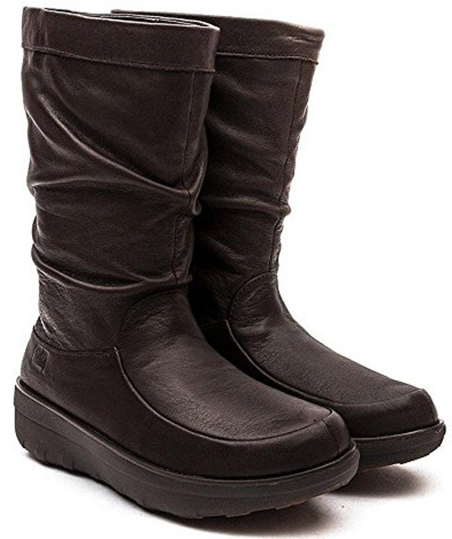 FitFlop Boots, Stiefel, Loaff, slouchy, dunkelbraun.