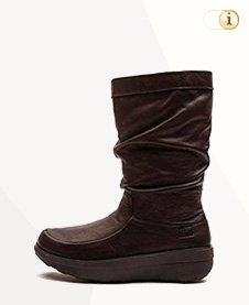 FitFlop Boots, Stiefel, Loaff Slouchy, braun.