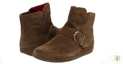 Braune FitFlop Schuhe für Damen, Stiefel Dash, braun.
