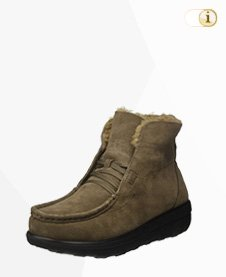 FitFlop Boots, Stiefel, Shearling Chukka, grünbraun.