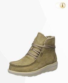 FitFlop Boots, Stiefel, Shearling Chukka, grün.