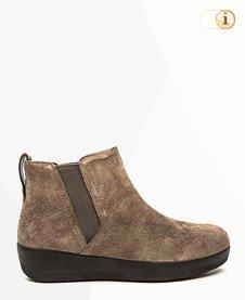 FitFlop Boots, Stiefel, Superchelsea, graubraun.