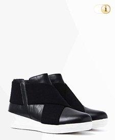 FitFlop Damen Stiefel, Stiefelette, Superflex, schwarz.